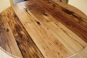 Wormy Chestnut Round Table - Reclaimed Wood