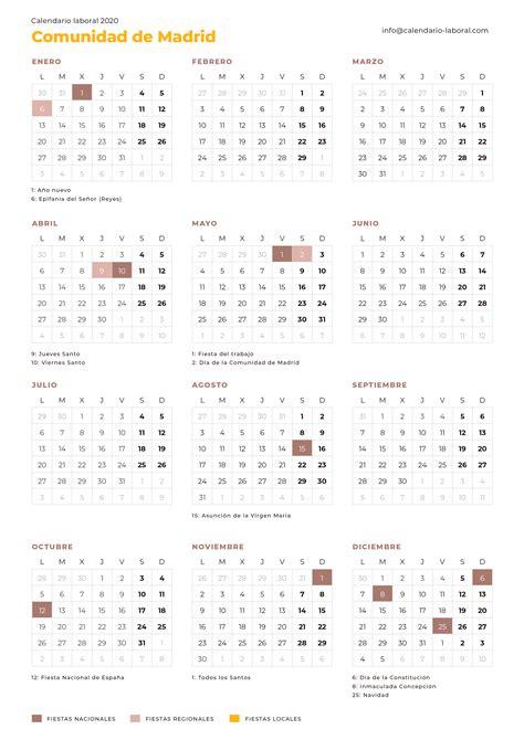 calendario laboral comunidad de madrid calendario