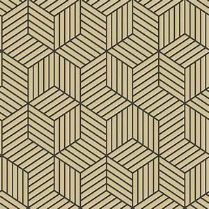 Papier Peint Noir Et Doré : papier peint autocollant avec motif hexagonal ray de roommates dor noir papier peint et ~ Melissatoandfro.com Idées de Décoration