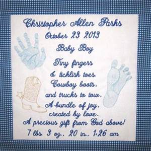 Birth Announcement Sample Baby Toddler Embroidery Designs Singles
