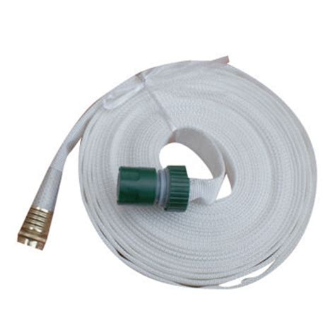 flat garden hose china canvas flat hose measures 1 2 5 8 and 3 4 inch on