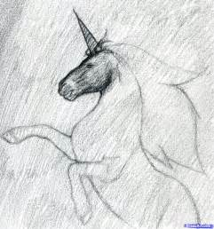 Black Unicorn Drawing