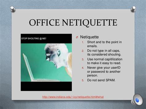 proper etiquette proper office etiquette