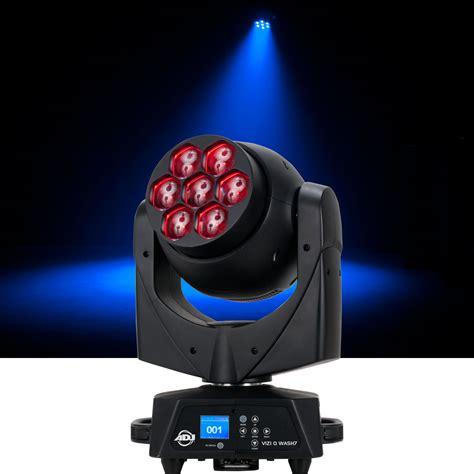 dj led moving head light adj american dj vizi q wash 7 7x40 watt rgbw led moving