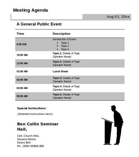 conference agenda template 50 meeting agenda templates pdf doc free premium templates