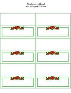 free printable christmas table place cards template free printable christmas table place cards templates