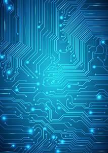 Blue Circuit Wallpaper