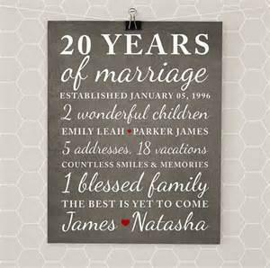 20th wedding anniversary gift ideas anniversary gifts for 20th anniversary 20 year anniversary