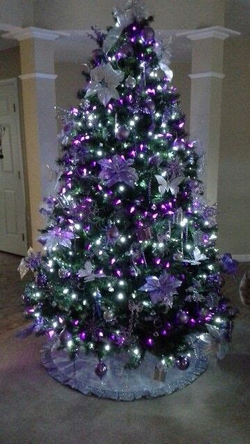 purple decorated christmas trees best 25 silver christmas tree ideas on 5322