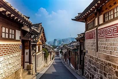 Hanok Village Bukchon Seoul Korea Korean Dynasty