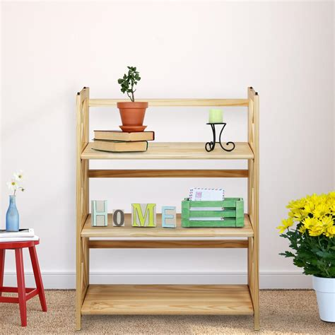 Home Bookcases by Casual Home X Design 3 Shelf Folding Bookcase 301