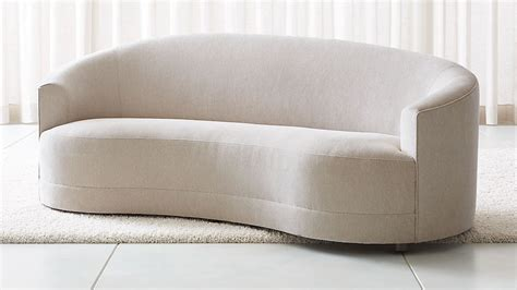 curved back loveseat infiniti curve back sofa reviews crate and barrel