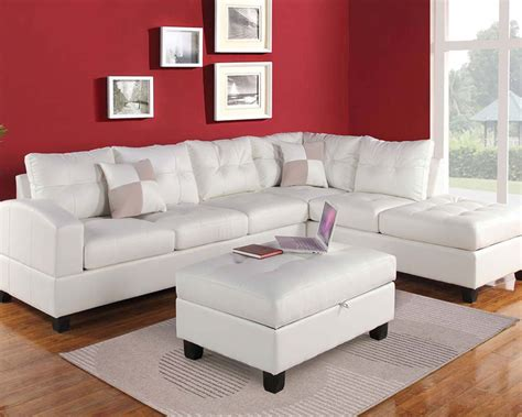 white sectional sofa set kiva  acme furniture acset