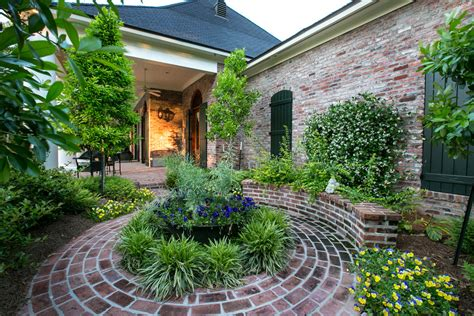 brick flower bed landscape traditional   st louis