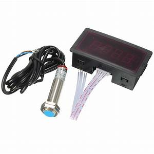 Buy Red Led Tachometer Rpm Speed Meter With Proximity