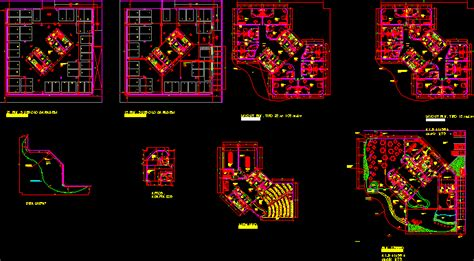 hotel architectural floor  autocad cad  mb