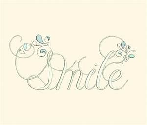 Smile - Inspirational Word Art - $3.99 : Fancy Fonts ...