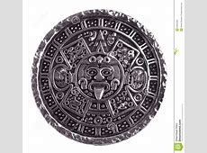 Medallion Engraved With The Mayan Calendar Royalty Free