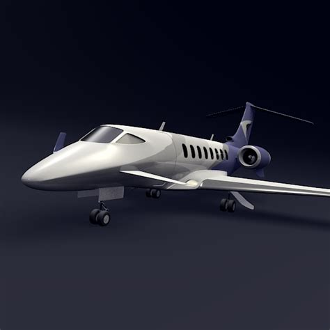 Private Jet Aircraft Concept 3d Model