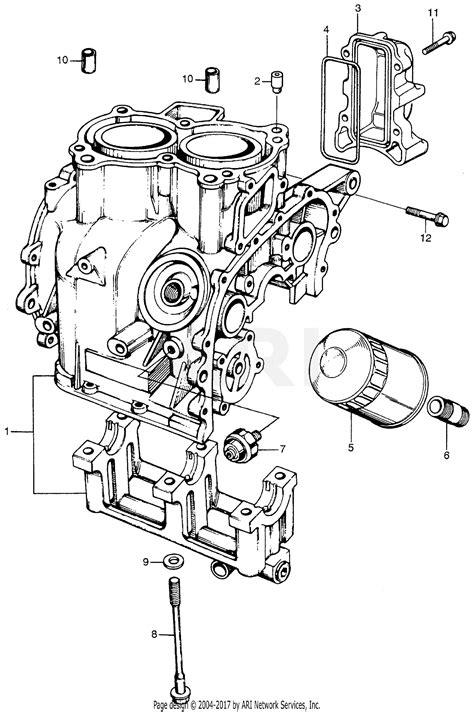 honda em  generator jpn vin em  parts diagram  cylinder block oil filter