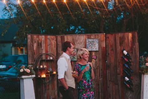 custom wood wall wedding backdrop  edison metalworks