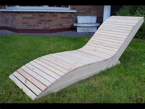 chaise longue en bois comment faire une chaise longue
