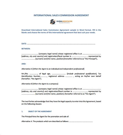 sales agreement    documents  word