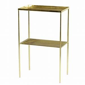 Table D Appoint Doré : haute table d appoint m tal dor bloomingville sur cdc design ~ Teatrodelosmanantiales.com Idées de Décoration