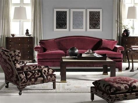 Living Room Paint Colors With Burgundy Furniture by O Brien For Hickory Chair Wine Sofa And Chairs At