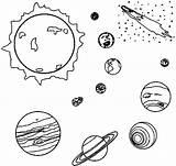 Coloring Planet Planets Solar System Space Outer Printable Para Sistema Colorir Ausmalbilder El Colorear Sun Children sketch template