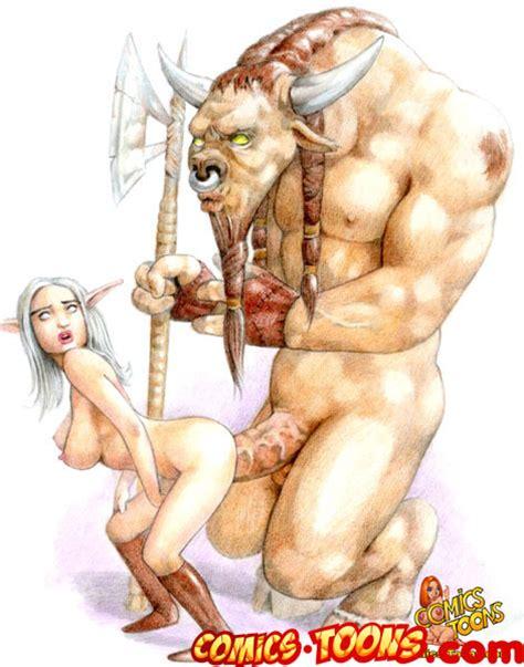 rule 34 breasts color elf female male minotaur penis sex tagme 281833