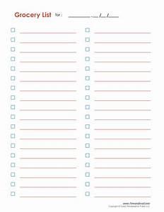Free Printable Grocery List Templates & Grocery Checklist PDF