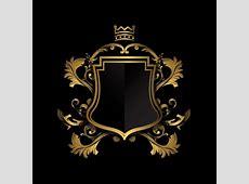 Escudo dorado sobre fondo negro Descargar Vectores gratis