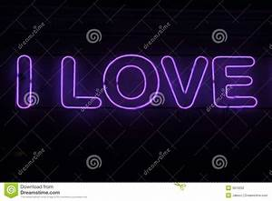 Pink Love Neon Sign Stock Photography - Image: 3910202