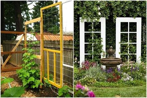 Backyard Trellis Ideas by 17 Best Upcycled Trellis Ideas For Garden Cool Trellis