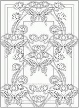 Coloring Pages Nouveau Dover Deco Publications Books Doverpublications Butterfly Adult Adults Animal Colouring Printable Samples Butterflies Mandala Enough Zb Ak0 sketch template