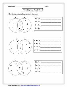 Venn Diagram-two Circles Worksheet For 6th