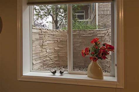 simple window  wpretty flowers landscape