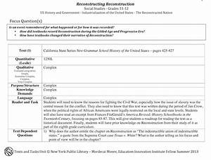 teachnypl reconstructing reconstruction gr 11 12 the With new york state lesson plan template