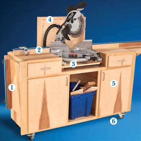 aw extra  mobile miter  stand woodworking