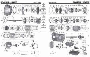Transmission Repair Manuals Jr403e  Rg4r01a  Re4r03a