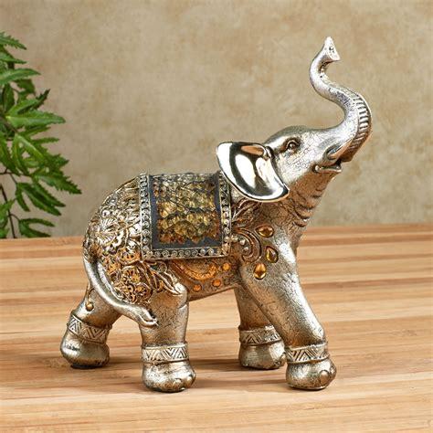 Elephant Home Decor by Bejeweled Mosaic Elephant Figurines For Home Decoration