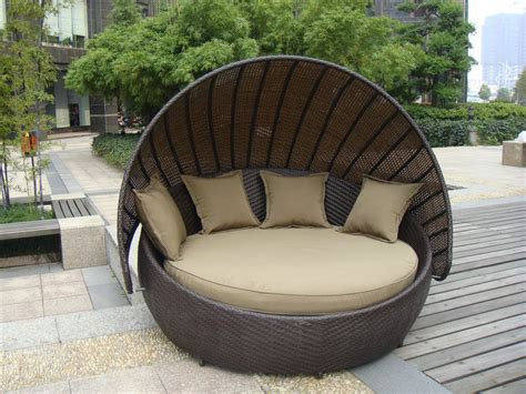 outdoor rattan furniture aluminium frame resin wicker daybed