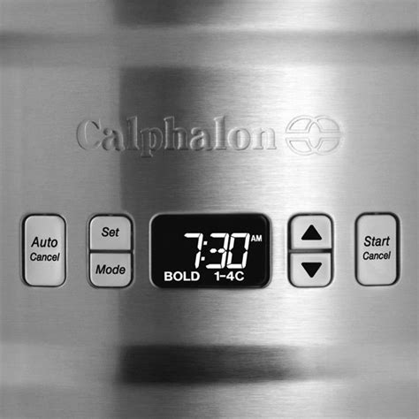 calphalon quick brew thermal carafe coffeemaker  cup cutlery