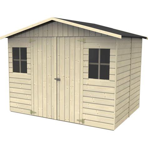 abri de jardin en bois kluane naterial 4 32 m 178 233 p 12 mm