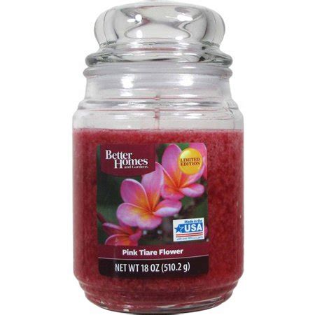 better homes and gardens candles better homes and gardens 18 ounce scented candle pink