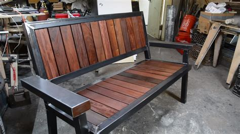 gorgeous bench  built  ipe decking scraps