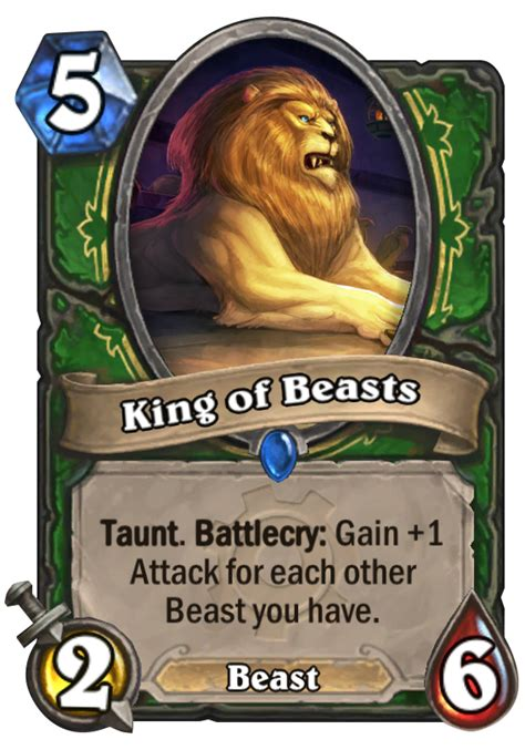 king of beasts hearthstone card