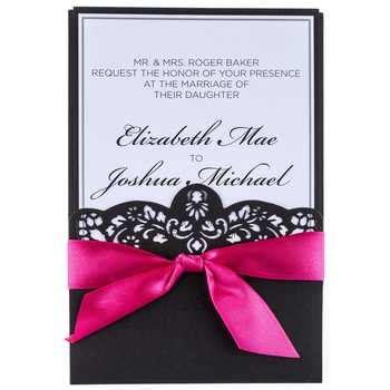 hot pink black laser cut wedding invitations hobby