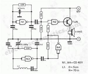 Cheap Metal Detector Circuit Schematic